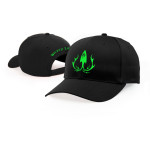 CLOTHING-HAT-GREEN-ON-BLACK